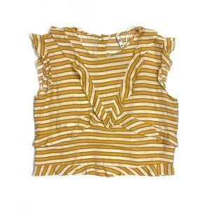 Zara TRF Collection Marigold Striped Blouse